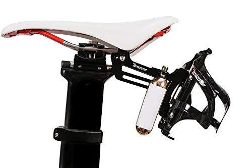 Minoura Bottle Cage - TriSeven Premium Cycling Saddle Cage Holder - Lightweight for Triathlon & MTB, Holds 2 Water Bottles & 2 co2 Cartridges | Does NOT Include Water Cages!