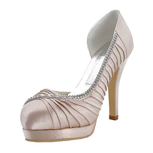 Kevin Fashion ,  Damen Hochzeitsschuhe , Braun - Marrón - champán - Größe: 43 EU