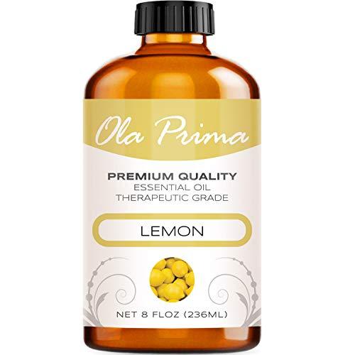 8oz - Premium Quality Lemon Essential Oil (8 Ounce with Dropper) Therapeutic Grade Lemon Oil