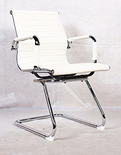 New Grey Charles Eames Style Ribbed Reception Meeting Conference Office Chair