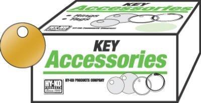 Hy-Ko Key Tag 1-1 8  Dia. Solid Brass Boxed by Hy-Ko