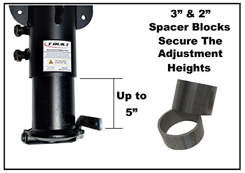 T-Built-12-17-Adjustable-5th-Wheel-RV-to-Gooseneck-Adapter-Hitch-with-7-34-offset