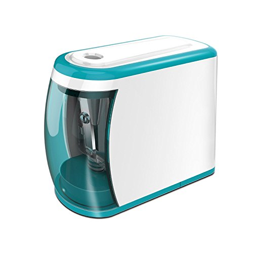 MROCO Battery Operated Electric Pencil Sharpener Colored Pencils Sharpener automatic pencil cutter for kids, adults, artists, or sharpeners for pencils, office professional pencil sharpener (Blue)