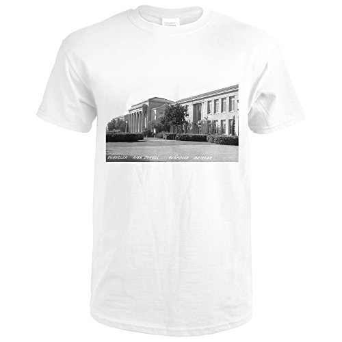 Chandler, Arizona - High School Exterior Photograph (Premium White T-Shirt (Chandler Photograph)
