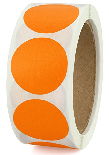 """1-1/2"""" Orange Color-Code Labeling Dots 