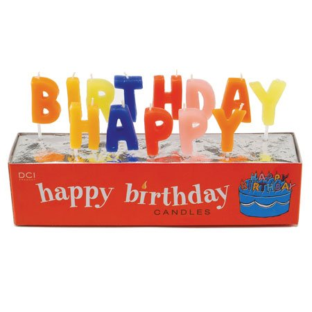 DCI Happy Birthday Candles