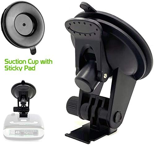 ChargerCity Super Suction Sticky Windshield Suction Cup Mount for Escort MAX/MAX 2 / Older Max360 Radar Detector from 2015-2019 w/Slide in Plate Slot only (NOT for Radar That use Magnetic Cradle)
