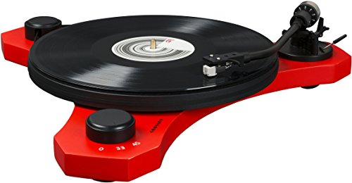 Crosley C3 2-Speed Belt-Drive Turntable with Audio-grade MDF Plinth and RCA Output, Red 2 Speed Manual Turntable