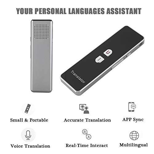 T8+ Smart Language Translator, 2.4G Bluetooth Real Time Voice Translation Device Support Chinese Arabic Portuguese French German Spanish Russian Japanese Romania 40 Languages for Travel Business by Zerone (Image #2)