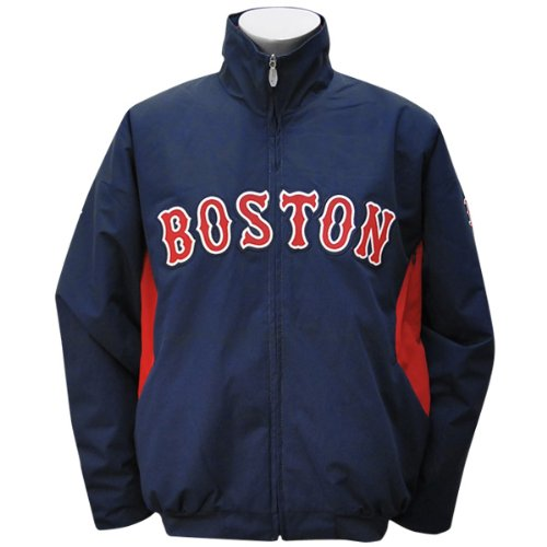 Boston Red Sox 4X-Large 4XL Majestic Navy Therma Base Premier Dugout Jacket XXXXL (Red Base Sox Therma)