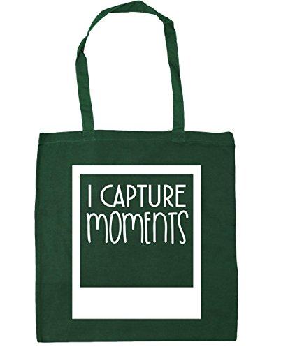 HippoWarehouse I captura momentos Tote Compras Bolsa de playa 42cm x38cm, 10litros verde oscuro