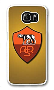 Galaxy S6 Case, S6 Cases, Custom As Roma Galaxy S6 Bumper Case [Scratch Resistant] [Shock-Absorbing] Hard Plastic White Protective Cover Cases for New Samsung Galaxy S6