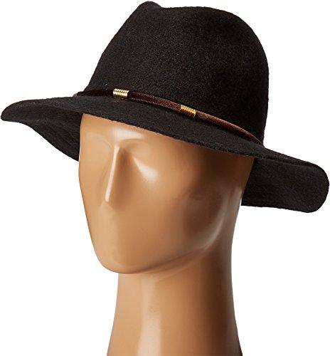San Diego Hat Company Women's CTH8074 Knit Fedora with Velvet Band Black (Black Velvet Fedora Hat)