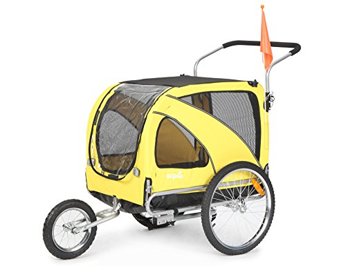 Sepnine Pet Dog Bike Trailer, Yellow