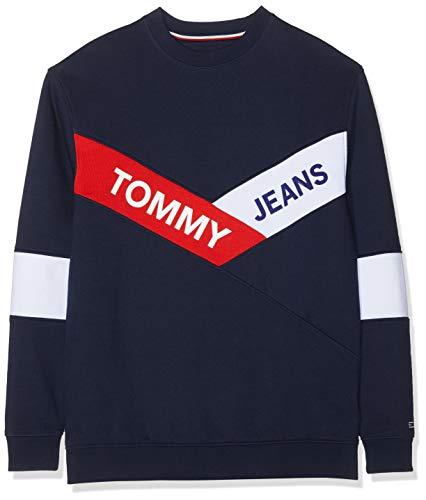 black Felpa 002 Jeans Tommy Blau Chevron Iris Uomo Tjm Crew qfCx07w
