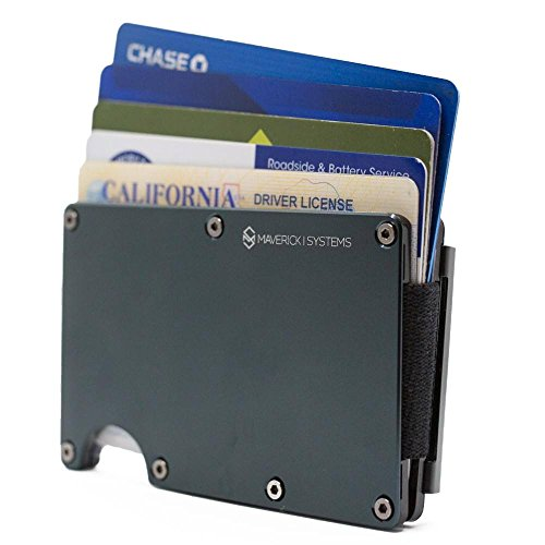 RFID-Blocking Slim Minimalist Card Holder/Travel Wallet For Credit Cards
