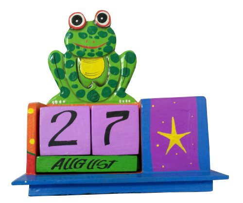 Cohasset Imports 427BS Bright Finish Frog Perpetual Calendar