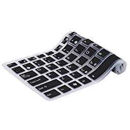 FORITO Keyboard Cover Silicone Rubber Skin for ASUS 15.6 inch F555 F555LA F555LB F555LD F555LJ F556UA GL502VS UX501VW X540LA X540SA X550ZA K501UX K501UW GL552VW Laptop US Layout (Black)