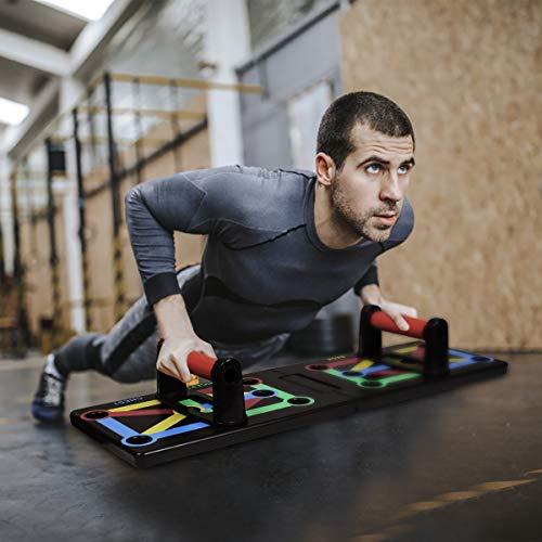 GOAMZ 12 in 1 Push Up Board Faltbare Liegestützbrett mit Handgriff für Multifunktionales Muskeltraining System für Home Practice Brust Muskel Arm Muskel
