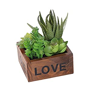 Idealcoldbrew Potted Green Artificial Succulent Plants 99
