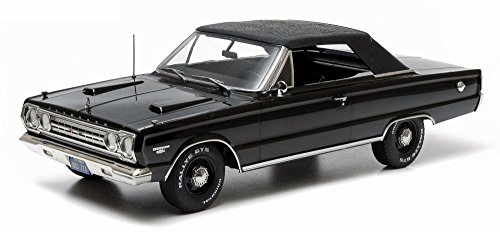 1967 Plymouth Belvedere GTX Convertible, Black - Greenlight 19007 - 1/18 scale Diecast Model Toy Car -