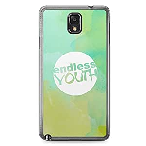 Inspirational Samsung Note 3 Transparent Edge Case - Endless Youth