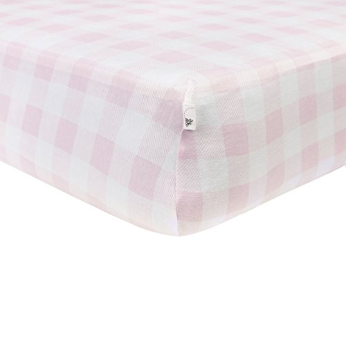 Pink Buffalo (Burt's Bees Baby - Buffalo Check Fitted Crib Sheet, 100% Organic Crib Sheet for Standard Crib and Toddler Mattresses (Blossom))