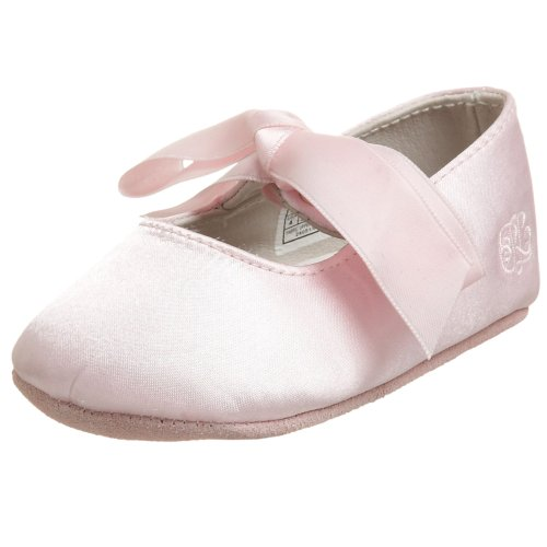 (Ralph Lauren Layette Briley Ballet Crib Shoe (Infant/Toddler),Pink Satin,4 M US Toddler)