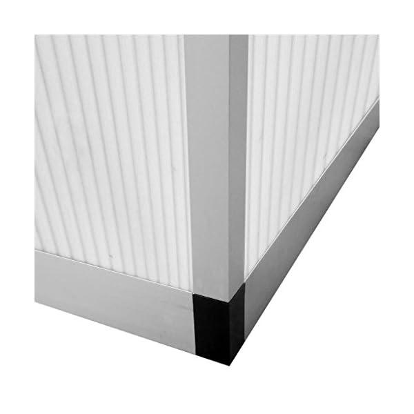 Tidyard Serra in Alluminio Rinforzato con Telaio di Base 7,55 m²,per Piante orto casetta Esterno 6 spesavip