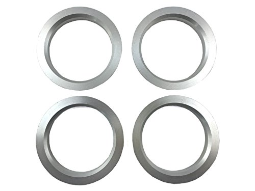 SunHome 4 Pieces - Hub Centric Rings - 73.1mm OD to 60.1mm ID - Aluminum ()