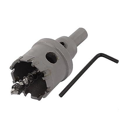 eDealMax 38mm Dia de corte triángulo vástago del cortador del metal TCT Fresa espiral Bit agujero