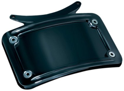 Kuryakyn 3143 Black Curved License Plate Frame