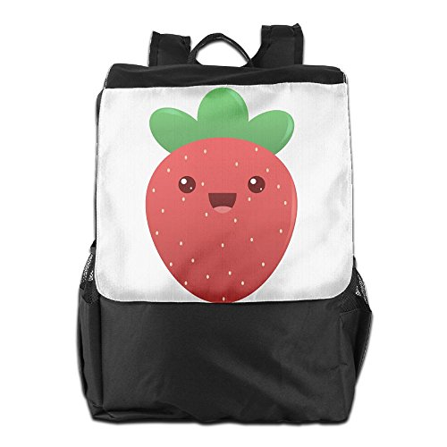 Bag Of Jelly Beans Costume For Adults (Rongyingst Cute Strawberry Messenger Bag Shoulder Backpack Travel Hiking Rucksack For Womens Mens Boys Girls School Bookbags One Size)