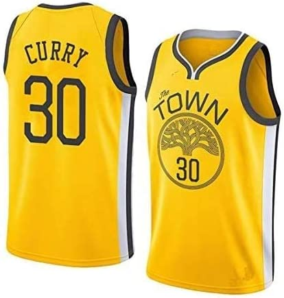 Dll Jerseys de los Hombres - NBA Golden State Warriors # 30 Stephen Curry Mangas de Malla de Baloncesto Jersey Alero Edición Camiseta Unisex (Color : JL Yellow, Size : S (170cm/50-65kg)): Amazon.es: Hogar