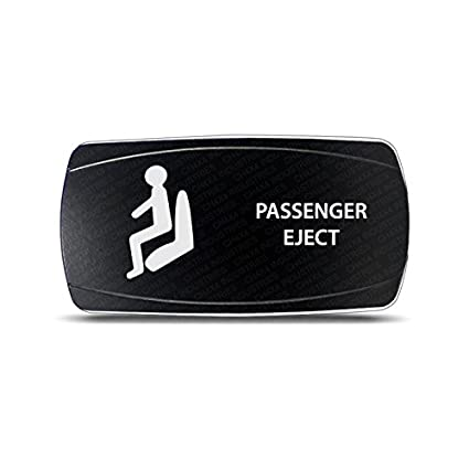 CH4X4 Rocker Switch Passenger Eject Symbol - Horizontal- White Led CH4X4 INDUSTRIES