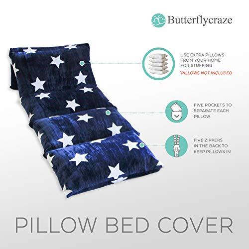 Butterfly Craze Kids Floor Pillow Fold Out Lounger Fabric