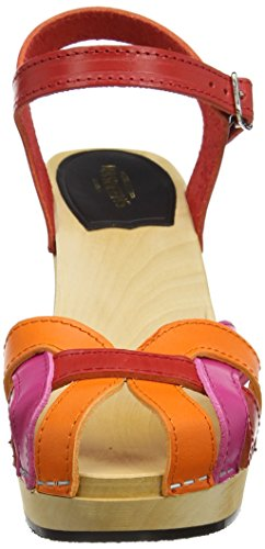 Sandalias Red And Sky Pink Pearl Multicolour High Hasbeens Swedish Mujer qPSIZn