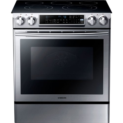 Electric Convection Slide In Range - Samsung NE58F9500SS Slide-in Electric Range