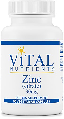 Zinc Citrate (Vital Nutrients - Zinc (Citrate) 30 mg - Highly Absorbable Immune Support - 90 Capsules)
