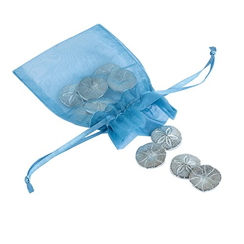 DANFORTH - Vilmain Sand Dollar Pocket Tokens - Bag of 10 Charms - Pewter - Coins