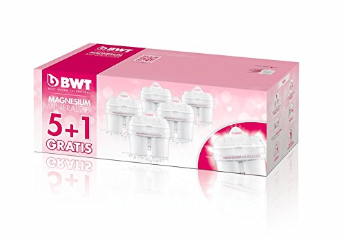 BWT Premium Mg2+ Water Filter, Custom USA Formulation (5+1 Pack) by BWT