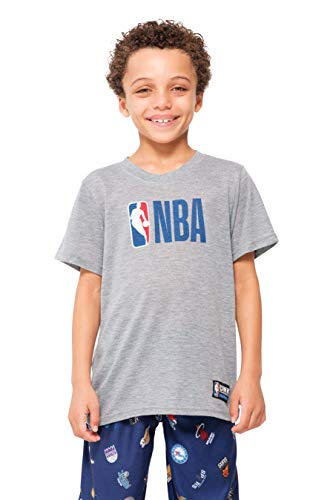 Ultra Game NBA Multi-Team Boys 2 Piece Pjs Lounge Pants & Tee Set, Navy, 8