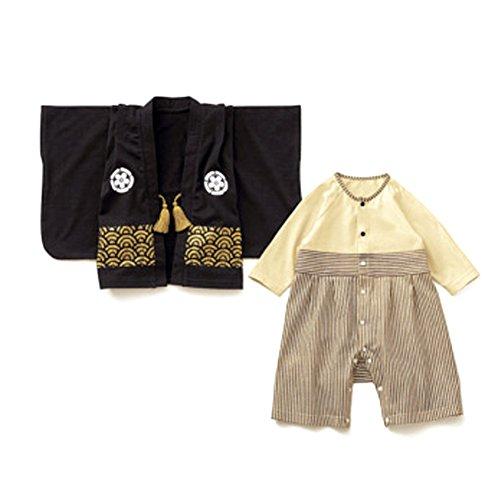 Baby Infant Romper Pajamas Clothes Organic Cotton Kimono Two-piece Suit Printed Pattern (Organic L/s Bodysuit)