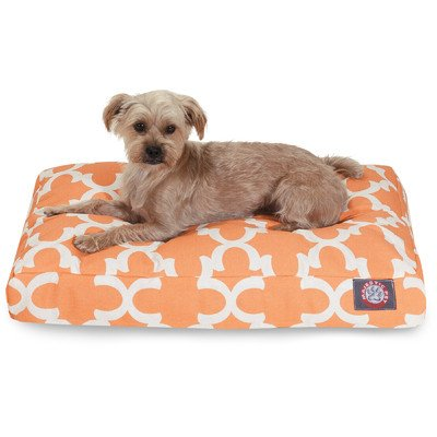 Trellis Rectangular Pet Bed, Medium , Teal