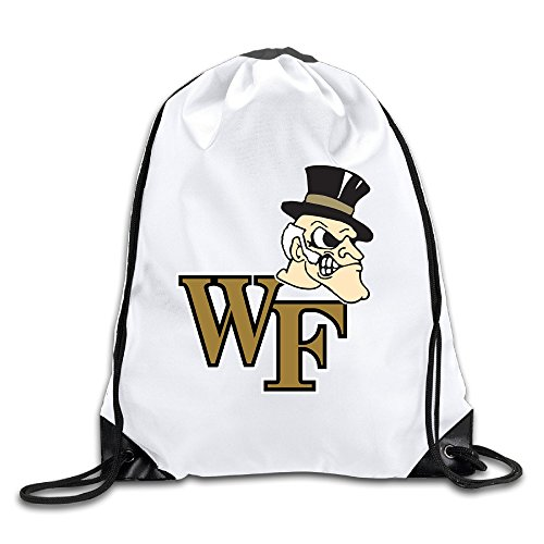 Zhanzy Wake Forest Demon Deacons Large Drawstring Sport Backpack Sack Bag Sackpack