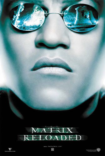 The Matrix - Reloaded - Movie Poster (Morhpeus / Laurence Fisburne) (Size: 27