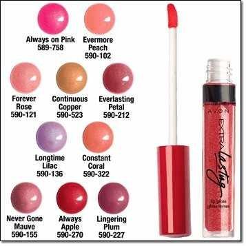 Avon Extra Lasting Lip Gloss - Evermore Peach W301