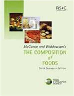 McCance and Widdowson's the Composition of Foods: Summary Edition (6th Edition)