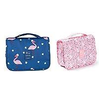 Waterproof Hanging Makeup Bag Cosmetic Bag with Hanging Hook Large Capacity Hanging Cosmetic Bag Hanging Toiletry Bag Travel Airport Bag Travel Sundry Bag