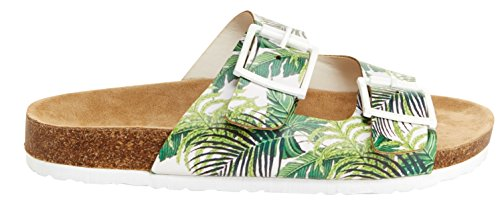 Sandal Green Us on Strap Tree 8 Unionbay 5 Buckled M Melissa Flat Women's Slide Two Slip Palm gAO6zwA